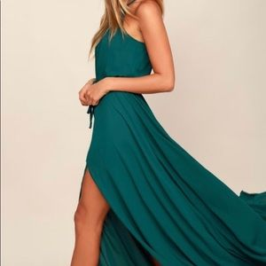 Essence of Style Teal Green Maxi Dress